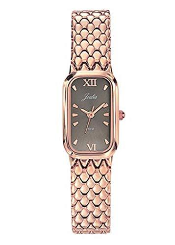 Joalia H630M610 - Orologio da donna con cinturino dorato rosa, quadrante grigio