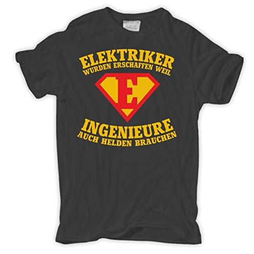 Männer und Herren T-Shirt ELEKTRIKER wurden erschaffen Aschgrau