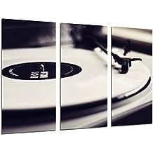 Poster Moderno Fotografico Tocadiscos Vintage, Discos de Vinilo, Musica, 97 x 62 cm, ref. PST26520