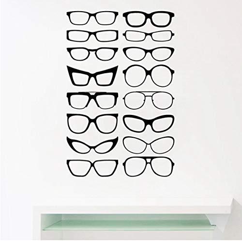 Eyewear Specs Rahmen Vinyl Wall Sticker Brillen Rahmen Art Decals Brillen speichern Fenster Tür Dekor 56x37cm