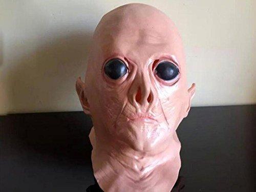 JJH-ENTER Maske Halloween Maske Spukhaus Kammer des Schreckens Bar Terror Emulsion Geist Maske Heikel