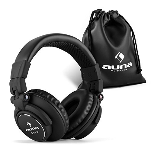 auna Base • DJ Kopfhörer • Over Ear Headphones • geschlossene Bauweise • klappbar • faltbar • 96 dB Empfindlichkeit • gepolsterter Bügel aus Edelstahl • austauschbares Kabel • - Over-ear-kopfhörer Geschlossen
