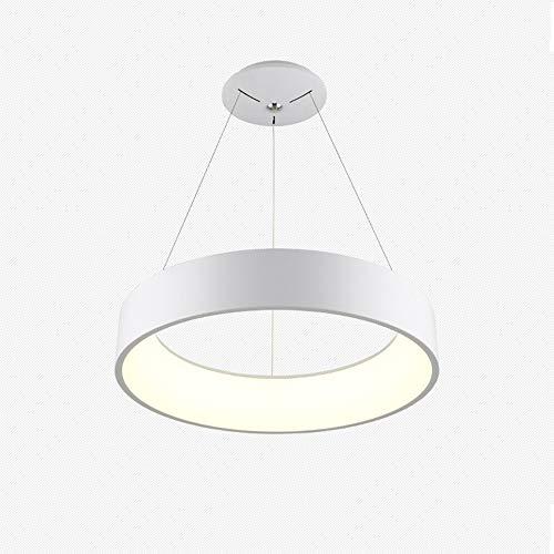 Lampadario rotondo, soggiorno moderno lampadario minimalista anello led lampadario camera da letto ristorante personalità creativa lampadario, adatto per soggiorno camera da letto studio.,white