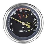 UPPOD Steakthermometer, Grillthermometer, mit Sofortanzeige, Sonde, Cromargan Edelstahl, hitzebeständig Thermometer aus 18/10 Edelstahl