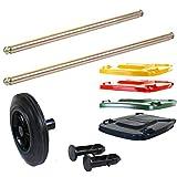 buildersmerchant-com Replacement Wheelie Bin Parts - Lids Axles Pins Wheels 120L 240L 360L |