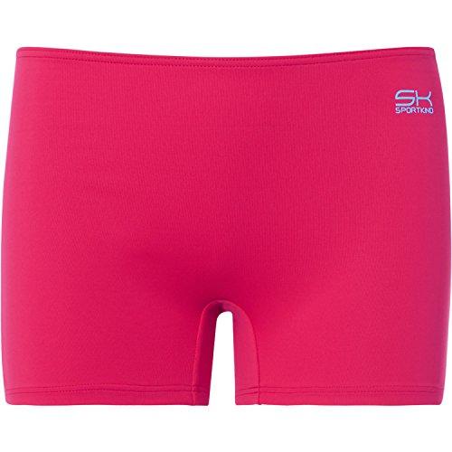 Sportkind Mädchen & Damen Tennis / Volleyball / Sport Shorts, pink, Gr. M (Mikrofaser-tennis Shorts)