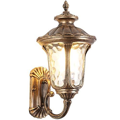 luminousky Nouveau applique murale d'extérieur étanche allée cour balcon escalier terrasse grand marron lampe de chevet
