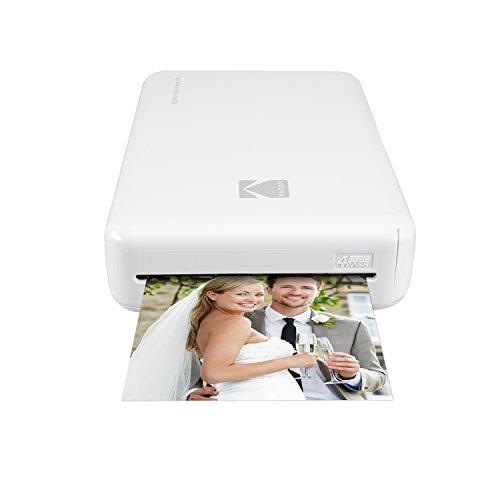 Kodak Drucker photo Mini 2HD Instant Wireless und Mobile mit Drucktechnologie patentierte 4Pass–Kompatibel mit iOS und Android–Weiß