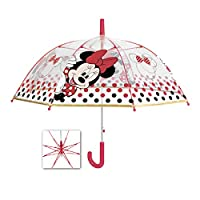 PERLETTI 50119 Umb. Girl 45/8 AUT. Dome Shape Poe Transparent with Printed Minnie, Multi Colour