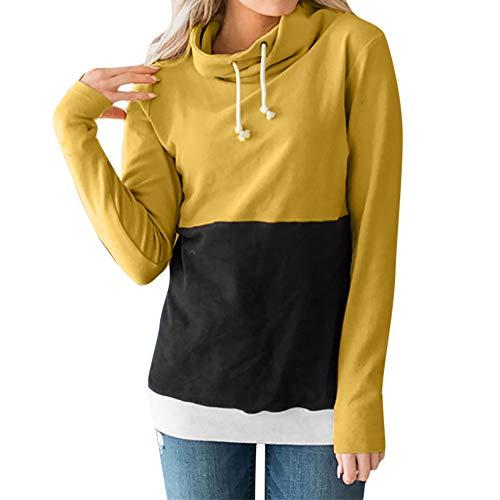 HARRYSTORE Große Sweatshirts Für Teenager Mädchen Frauen Locker Los Sweatshirt Tunnelzug Spitzen...