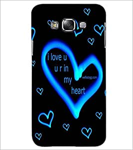 PrintDhaba Love D-2272 Back Case Cover for SAMSUNG GALAXY A8 (Multi-Coloured)