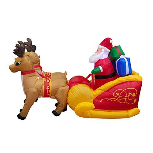 Natale grande auto-gonfiaggio santa slitta con renna led impermeabile natale celebrazione regalo interno ed esterno decorativo gonfiabile modello