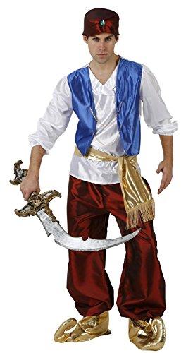 Atosa-96909 Disfraz Príncipe ÀRabe Color rojo M-L (96909