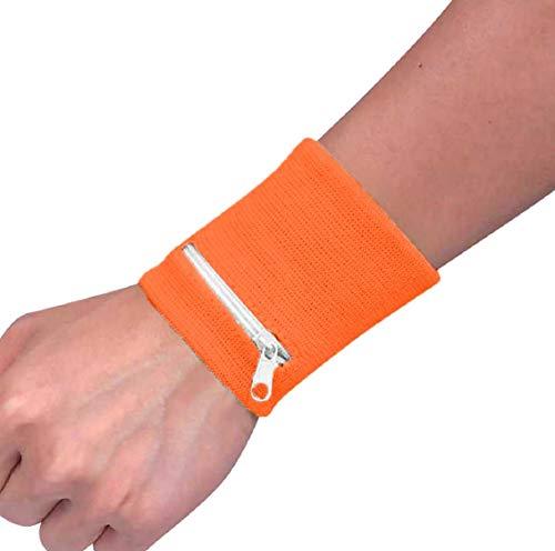 Koojawind Reißverschluss-Handgelenk-Mappen-Beutel, der Sport-Arm-Band-Beutel für Schlüsselkarte-Speicher-Beutel-Fall-Badminton-Basketball-Manschette, Sport-Handgelenk-Band-Handgelenk-Verpackung läuft - Band-speicher-fall