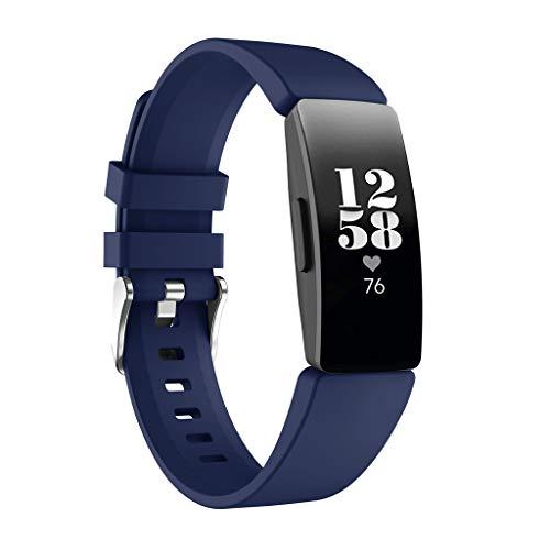 12shage Ersatzarmband Sportarmband Zubehör Silikon Ersatzband Uhrenarmband Armbänder Ersatz für Fitbit Inspire HR/Fitbit Inspire -