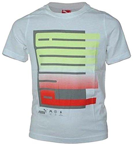 Puma Fade Tee Junior Kinder Sport Freizeit T-Shirt Weiß, Grösse:D/152 - UK/30/32 - US/L - FR/12 (Fade-jungen-t-shirt)