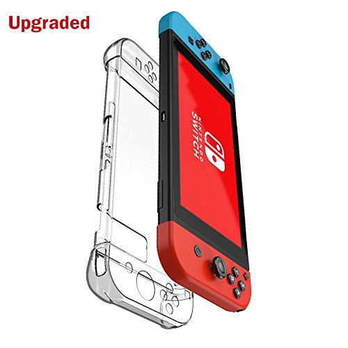 kungber-anti-scratch-hard-back-case-cover-for-nintendo-switch-transparent-ergonomic-accessories-skin
