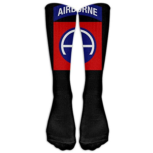 Integrity merchant 82nd Airborne Jump Wings Men White Unisex Knee High Sports Sock -