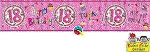 Rachel Ellen- Pancarta de fiesta, Color rosa (25032)