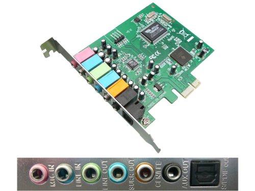 KALEA-INFORMATIQUE © - Carte Contrôleur PCI EXPRESS (PCI-E) - SON 8 CANAUX 7.1 - CHIPSET VIA TREMOR 1723 et ASM 1083