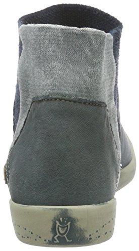 Softinos IME335SOF Washed - Stivali bassi con imbottitura leggera donna Blu (Petrol 004)