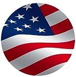 amerikanischer Fahne rund 7.5