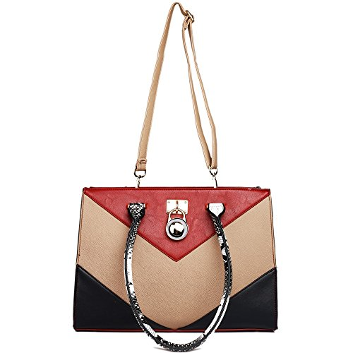 Miss Lulu - Borse a spalla donna Red