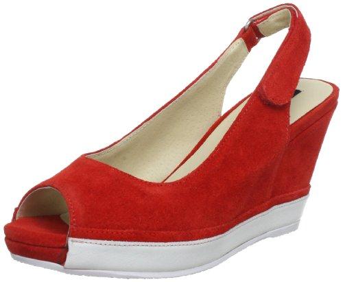 Bronx BX 432-074A478, Sandali donna, Multicolore (Mehrfarbig (brigth red/ white 478)), 39