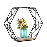 Diafrican - Estantería de Pared Hexagonal, decoración geométrica de la Pared, Hierro estantería de Pared, decoración geométrica Figura para salón Dormitorio