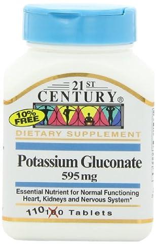 21st Century Health Care, Kaliumgluconat, 595 mg, 110 Tabletten