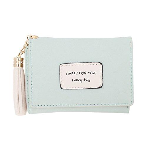 Dairyshop Borsa della borsa della moneta del supporto della carta del raccoglitore del cuoio delle donne (colore rosa) Verde