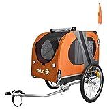 NFUN Rimorchio Carrello Porta Animali Cani per Bicicletta Arancione Grigio