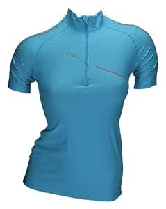 Asics Fitness Running Sportshirt Inner Muscle ZipTop Women 0877 Art. 422016 size M