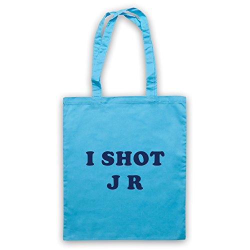 Inspiriert durch Father Ted I Shot JR Inoffiziell Umhangetaschen Hellblau
