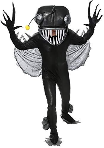Fun Costumes Angler Fisch Kostüm für Erwachsene - ()
