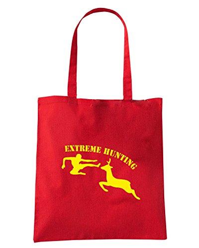 T-Shirtshock - Borsa Shopping TAM0037 extreme hunting dark tshirt Rosso