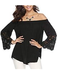 e7a367798 Amazon.es  hombro - Liso   Blusas y camisas   Camisetas