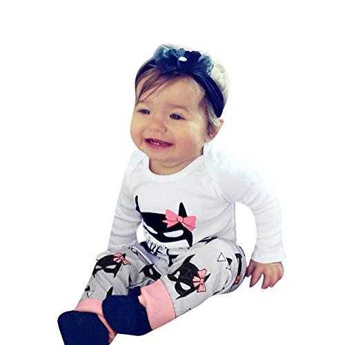 (2 Stück Kinderkleidung Set Sonnena Baby T-Shirt Outfits Kleinkind Junge Mädchen Batman Tops Pullover + Hose Babyanzug Baumwolle Langarmshirt Sweatshirt)