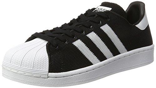 Premium-herren-basketball-schuhe (adidas Herren Superstar Sneaker, Schwarz Ftwwht/Cblack, 44 2/3 EU)