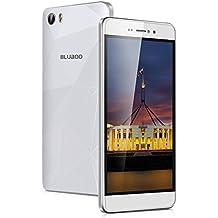 "Bluboo Picasso 4G - Smartphone libre Android 6.0 (Pantalla 5.0"" IPS HD, 16GB ROM, 2GB RAM, Cámara 8.0MP, Quad Core 1.0GHz, Dual SIM, NFC, Batería de 2800mAh), Blanco"