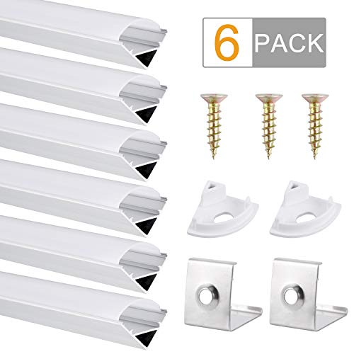 Perfil Aluminio, DazSpirit 6 Pack 1M/3,3ft V Forma