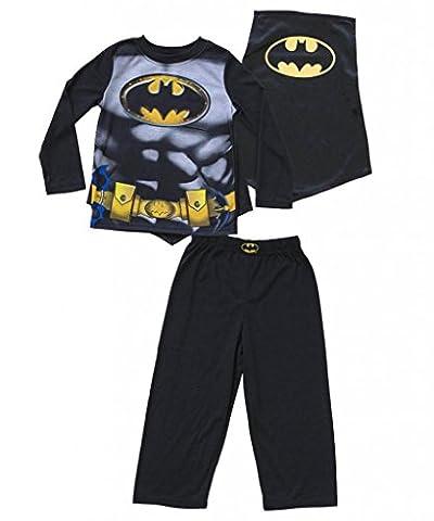Batman Jungen Pajama Set with Cape (4T)