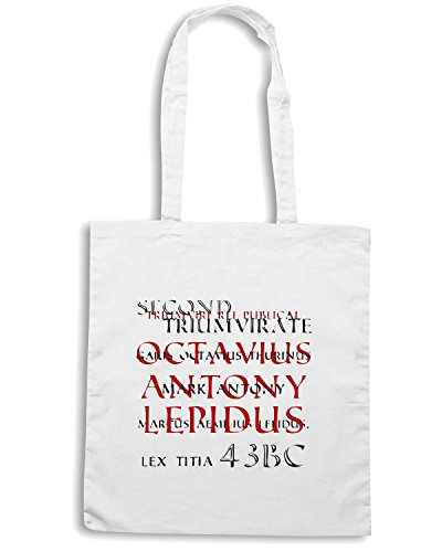 T-Shirtshock - Borsa Shopping OLDENG00232 second triumvirate Bianco