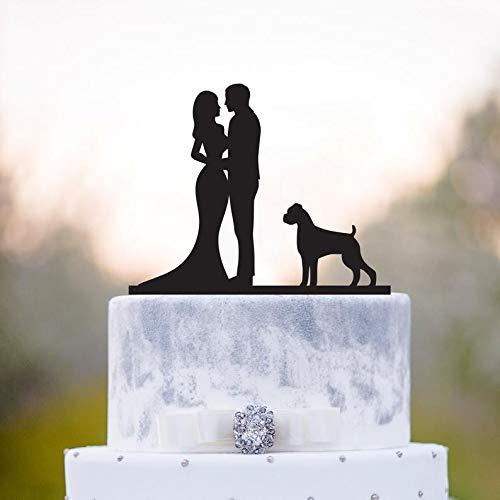 Hochzeitstortenaufsatz mit Hund, Boxer Hund, Boxer Hund, Tortenaufsatz, Tortenaufsatz mit Hund, Boxer Hund, Hochzeitstortenaufsatz, Hundedekoration, a13 -