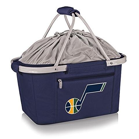PICNIC TIME 645-00-138-294-4 Utah Jazz-'Metro Basket' Collapsible Cooler Tote (Navy), Item Color: Navy, One