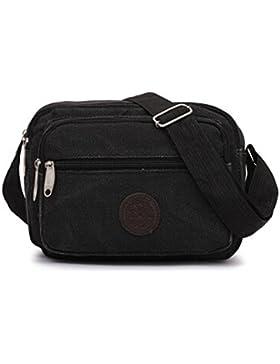 BZLine® Unisex Frauen Outdoor Canvas Handtasche Crossbody Umhängetasche Messenger Tasche
