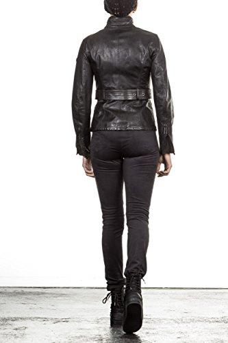 BELSTAFF JACKE DAMEN LEDERJACKE 72050044 TRIUMPH JACKET WOMAN SCHWARZ BLACK, Größe:40/46
