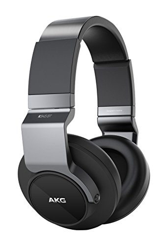 AKG K 845BT Cuffie Pieghevoli, Accoppiamento NFC/Bluetooth/Wireless, Imbottiture in Pelle, Compatibili con Dispositivi Apple iOS e Android, Nero
