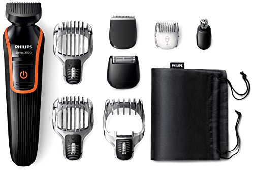 Philips QG3352/23 Series 3000 All-in-one Beard, Hair and Body Trimmer 8-in-1 Waterproof Trimmer for Maximum Versatility