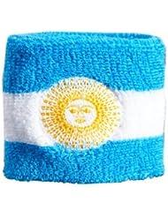 Digni® Poignet éponge avec drapeau Argentine avec soleil doré